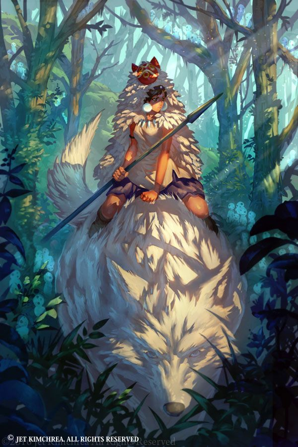 Prinzessin Mononoke Wolfsgöttin