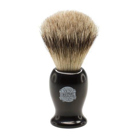 Progress Vulfix Super Badger Shaving Brush, Medium Black Handle VX-660MEDB