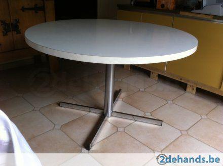 Witte ronde tafel te koop 2dehands.be project f pinterest