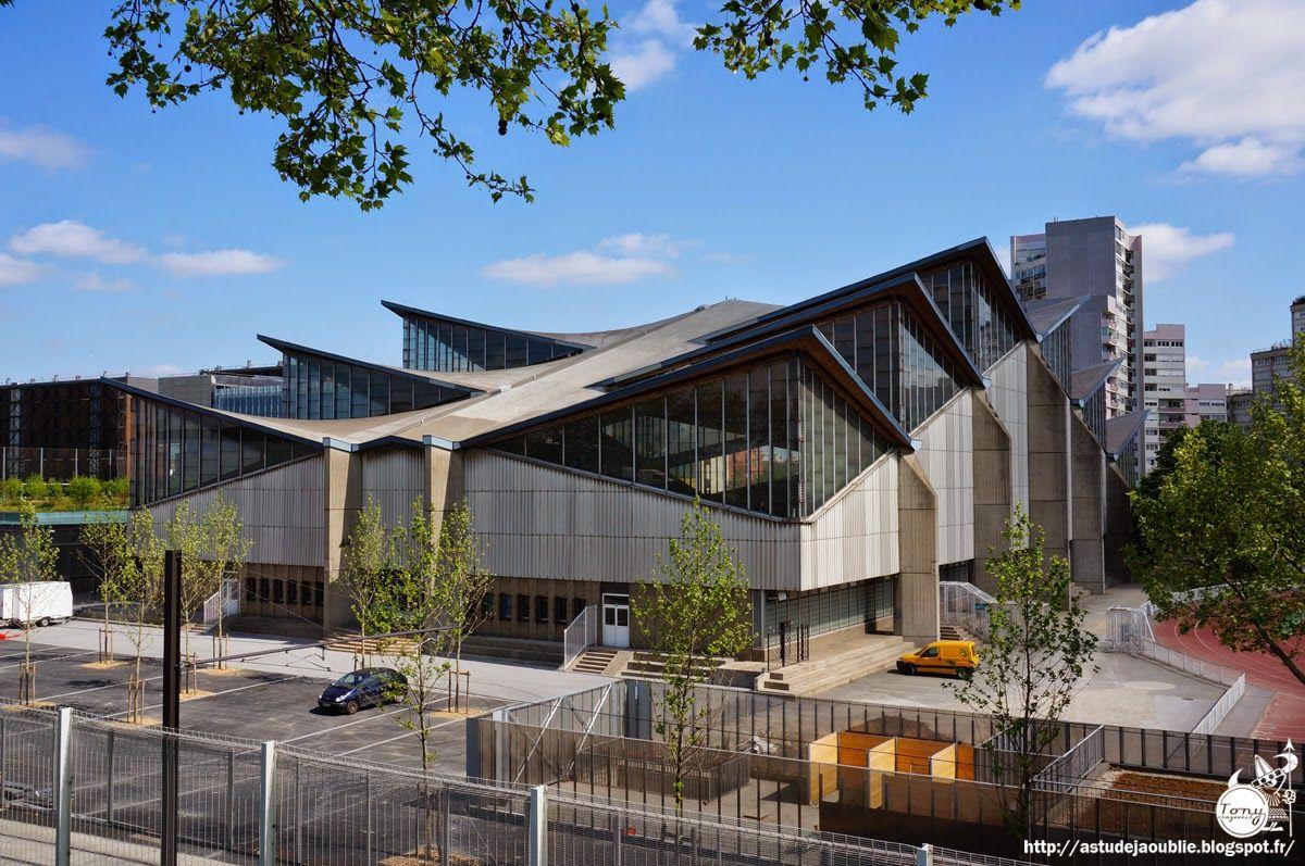 Sports center Jules Ladoumègue, Paris, France (Architect: Jean Peccoux, construction: 1970-1972)