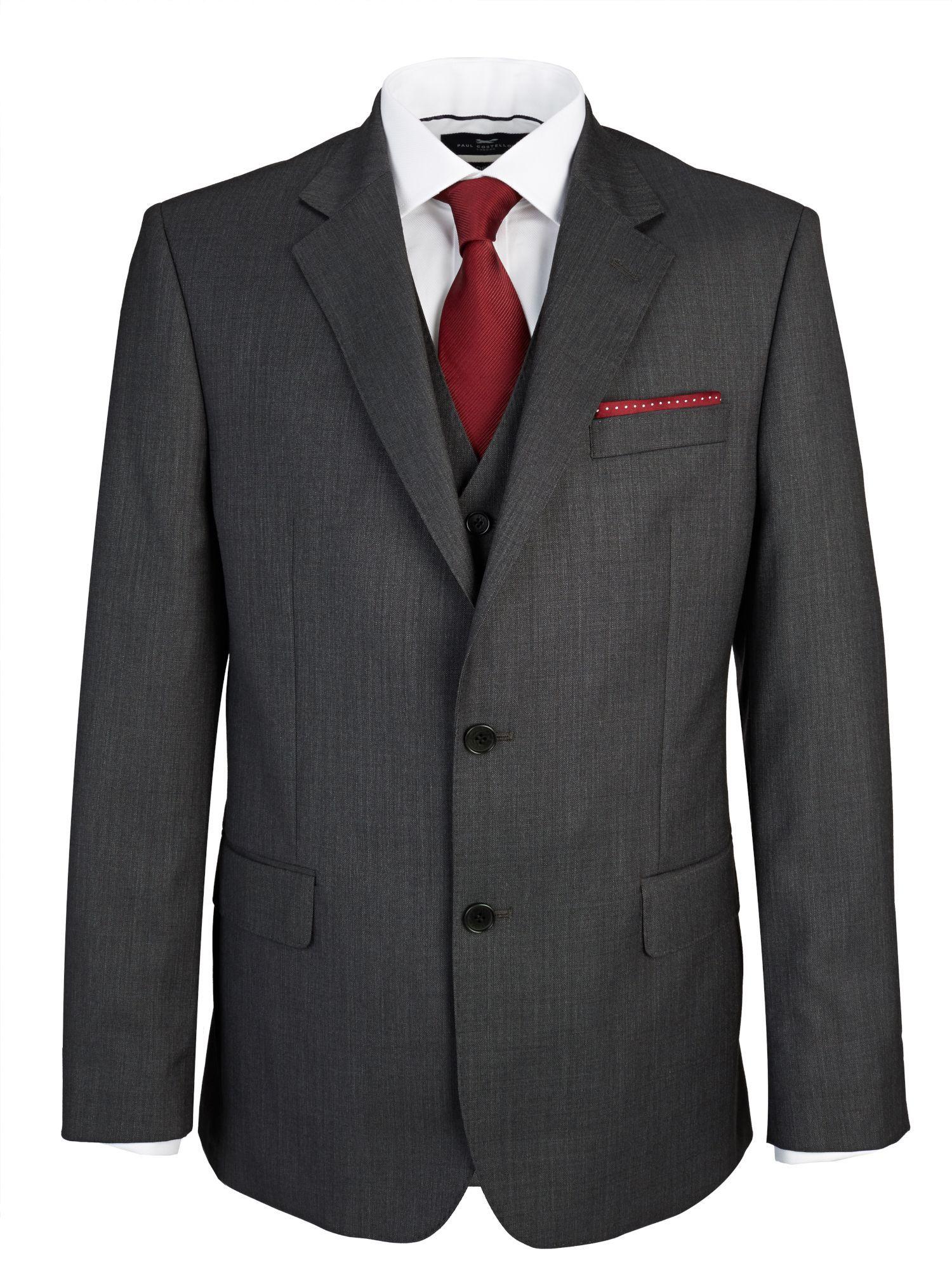 29fec160181c Buy: Men's Paul Costelloe Edgeware Wool Pick & Pick Suit Jacket,  Charcoal for