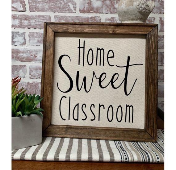 Home sweet classroom Teacher Sign Farmhouse Sign | Classroom Decor | Teacher Graduation Gift | Rusti #classroomdecor