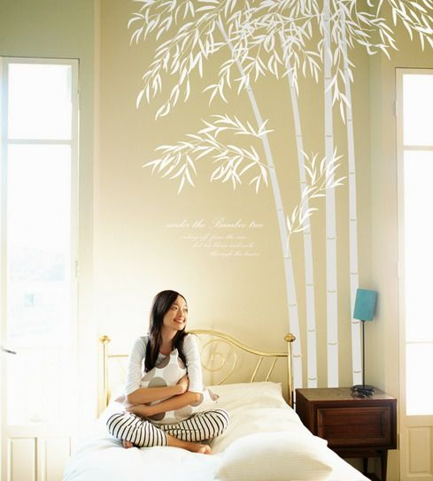 japanese wall stickers | Inexpensive Bamboo Wall Stickers Adding ...