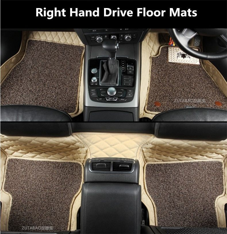 Auto Floor Mats For Mercedes Benz All Model W212 W213 C207 W204 W205 Right Hand Drive Embroidery Leather Wire Co