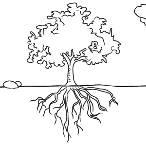 Elizabeth Family Tree Black And White With Roots Clipart Snowjet Co Tree Drawing Tree With Roots Drawing Roots Drawing
