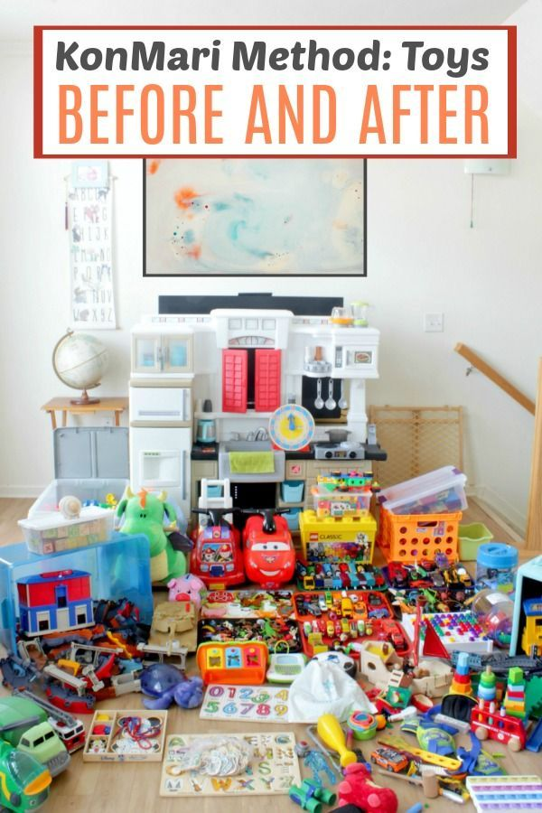 Declutter Toys (and Make Your Kids Smarter) with the KonMari Method | Kinderzimmer organisieren, Kin