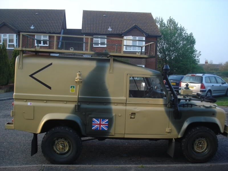 MILITARY LAND ROVER WOLF DEFENDER 110 HARD TOP FIBREGL ROOF ...