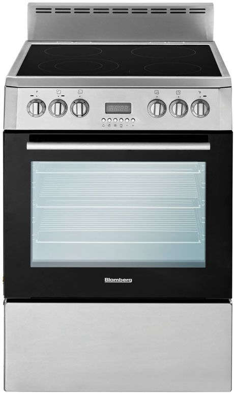 Blomberg Beru24100ss 24 Inch Freestanding Electric Range With 2 3 Cu Ft True Convection Oven 4 Elemen Freestanding Electric Ranges Blomberg Convection Range