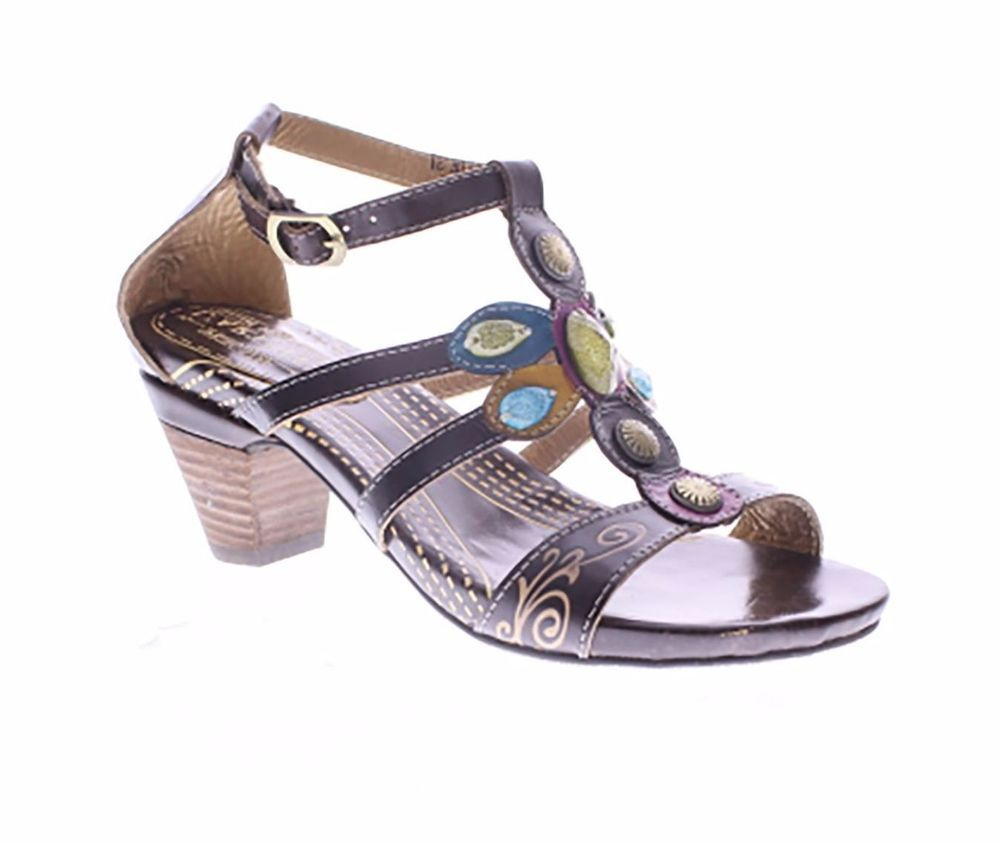 L'Artiste Frenzie By Spring Step Brown Leather Sandal 40 EU / 9 US Women #LArtiste #Sandal #Casual