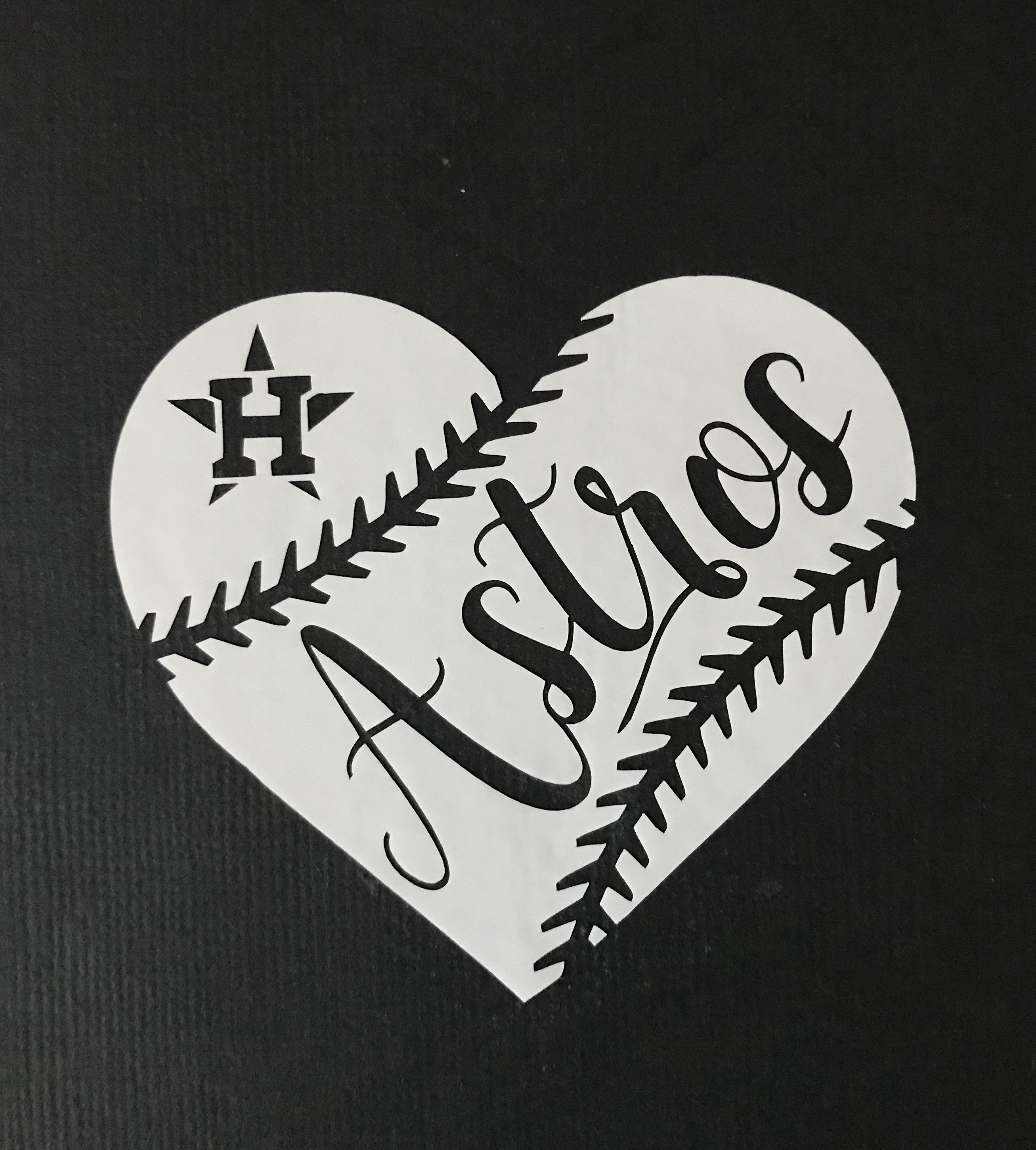 Download Huston Astros Baseball Heart Vinyl - Car Decal - Bumper ...
