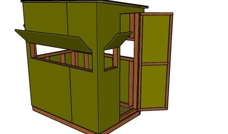 4 215 6 Shooting House Plans Shooting House Deer Blind