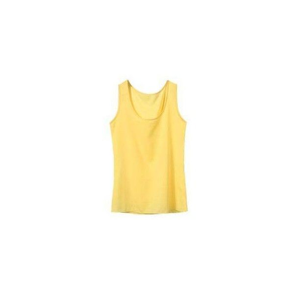 Yoins Green Round Neck Chiffon Vest (690 RUB) ❤ liked on Polyvore featuring tops, vest tank top, chiffon tops, chiffon vest, green tank top and beige vest
