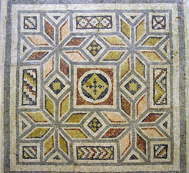 Idees Mosaiques Image : Mosaïque géométrique mosaiques antiques pinterest