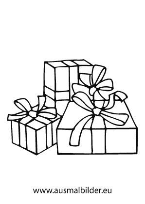 Ausmalbild Geschenke Ausmalbilder Weihnachten Ausmalen Geschenke