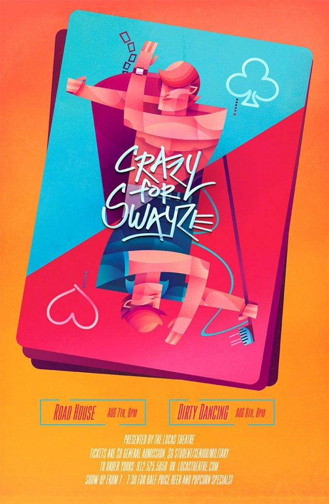 Crazy For Swayze Poster By Sean Loose Event Poster Illustration Poster Design