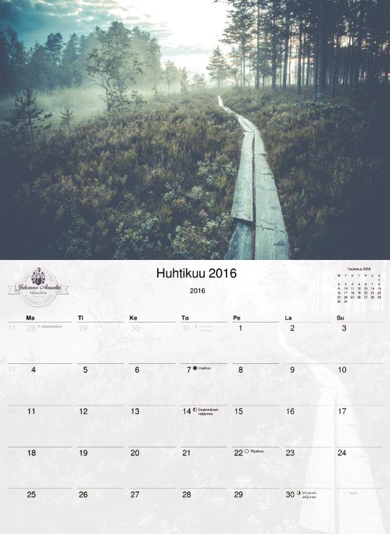 Loput kalenterit ALESSA! Upea ja iso seinäkalenteri vuodelle 2016. 12 kaunista kuvaa Teijolta, jotka voit myöhemmin vaikka leikata irti ja kehystää seinällesi. http://www.salonsydan.fi/uncategorized/loput-kalenterit-alessa/