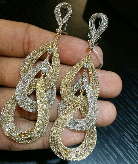 Image result for indian diamond chandelier earrings | pearl ...