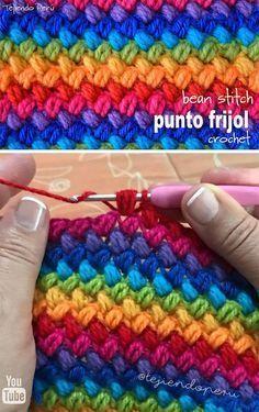Bean Stitch Crochet Pattern Tutorial Stitches Pinterest Häkeln