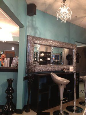 Thick Wood To Frame Mirror And Cover With Glitter Vinyl Of