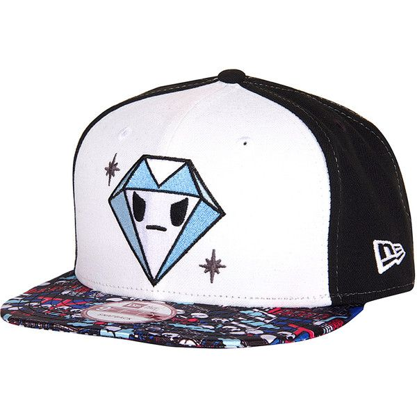 1d2c76b5fe0 tokidoki Daily Grind Snapback Baseball Cap ( 20) ❤ liked on Polyvore  featuring accessories