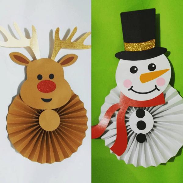 a4ee8744ce8f4 Adornos navideños con rosetones de papel - Dale Detalles Manualidades  Navidad
