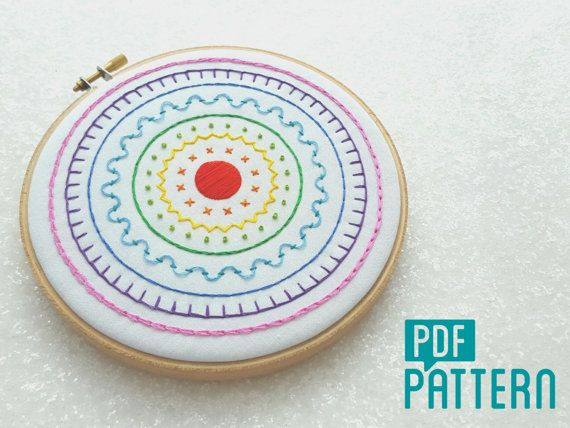 Rainbow Sampler Embroidery Pattern Hand Embroidery Digital Pattern Sampler Embroidery PDF Tutorial Sampler Embroidery Stitch Instructions by OhSewBootiful #embroidery #needlework #embroiderypattern #hoopart #diyembroidery #diyhoopart #embroiderykit #needlework #diygift #giftforcrafter