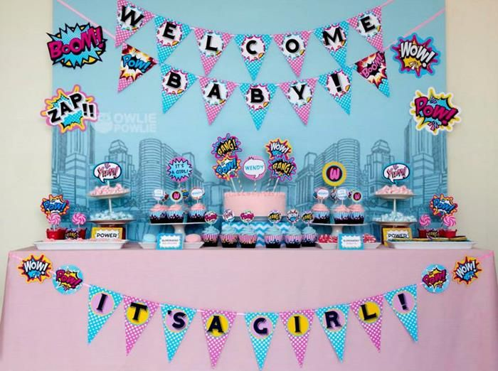 Supergirl Superboy Baby Shower