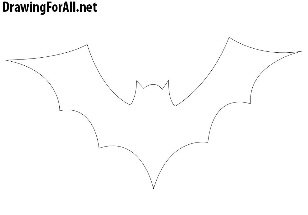 How To Draw A Bat For Halloween Draw A Bat Halloween Drawings