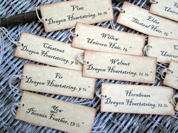 Wand Tags 12 Harry Potter Parties Food Harry Potter Bday