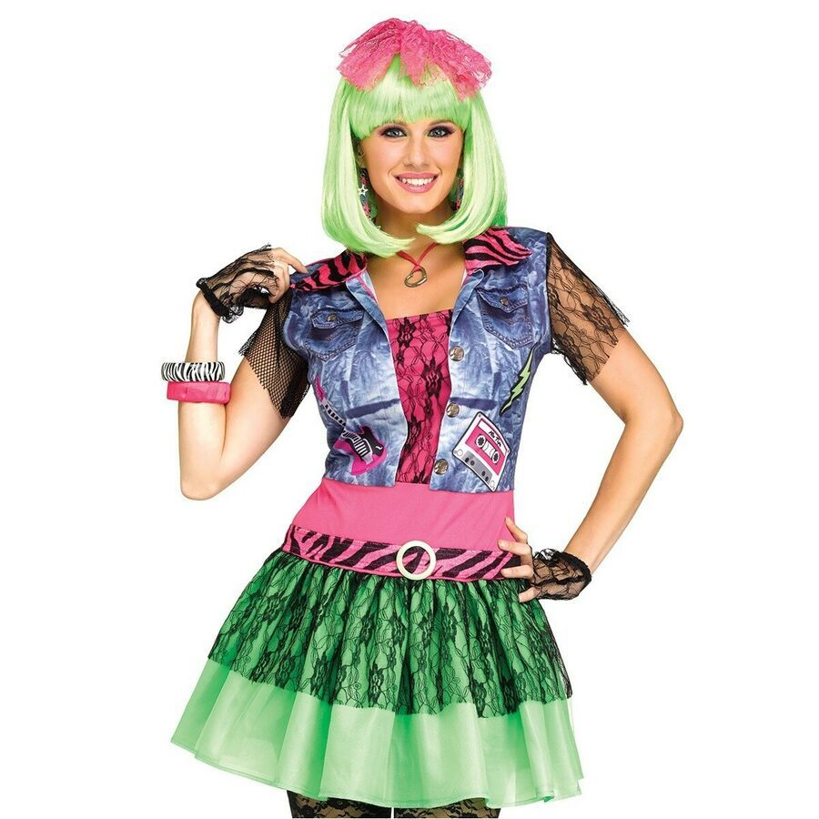 80s Costume Adult Valley Girl Outfit Halloween Fancy Dress