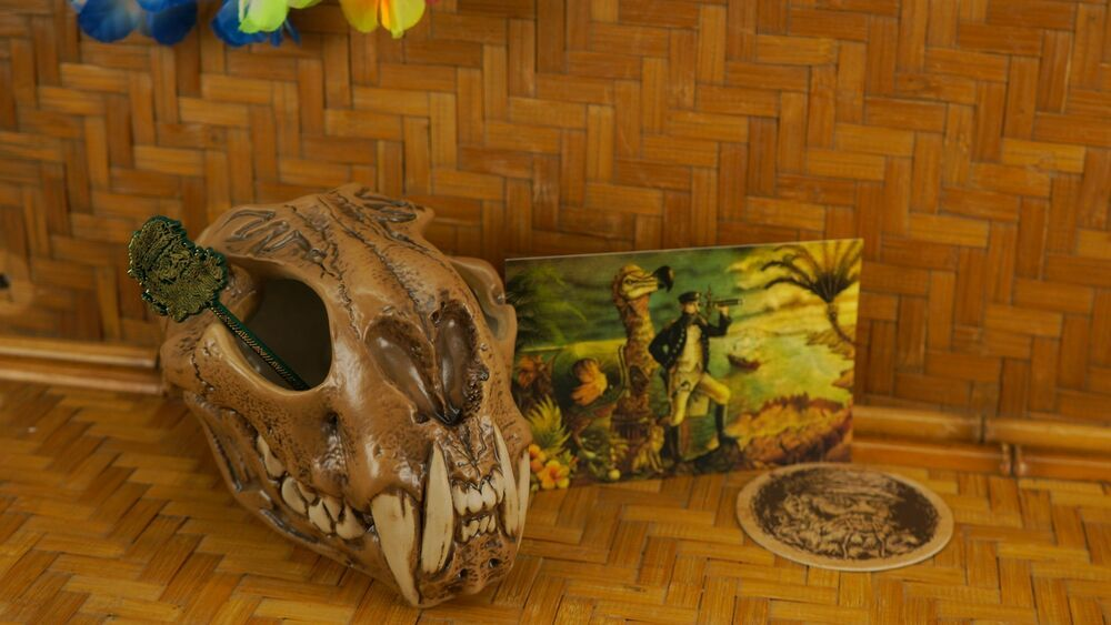 Tiki Mug Deadhead Rum Idol Hands Tiki Farm Shrunken Head