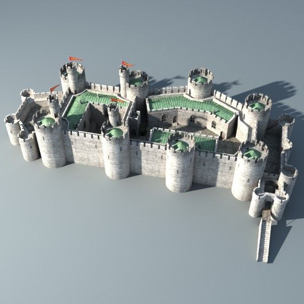 Castle 3d obj castle collection by medievalworlds from Design a castle online