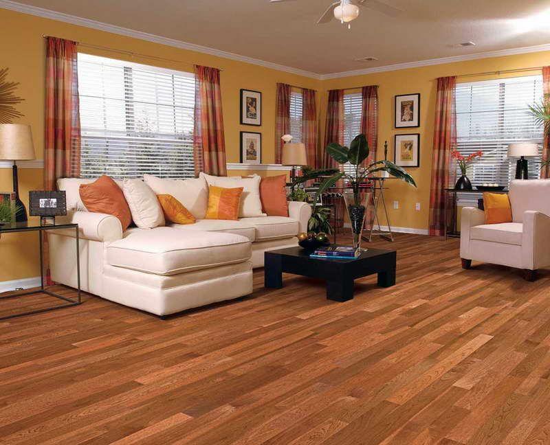 Hickory Wood Floors With White Sofa Hickory Wood Floors