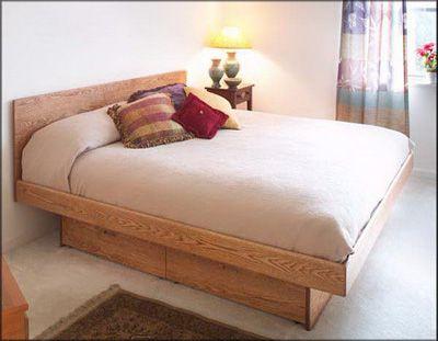 Hardwood Artisans Platform Pedestal Bed W Plain Headboard Twin Available 41 1 2 W X 82 1 2 L 1640 Bed Under Bed Drawers Wooden Bed Frames