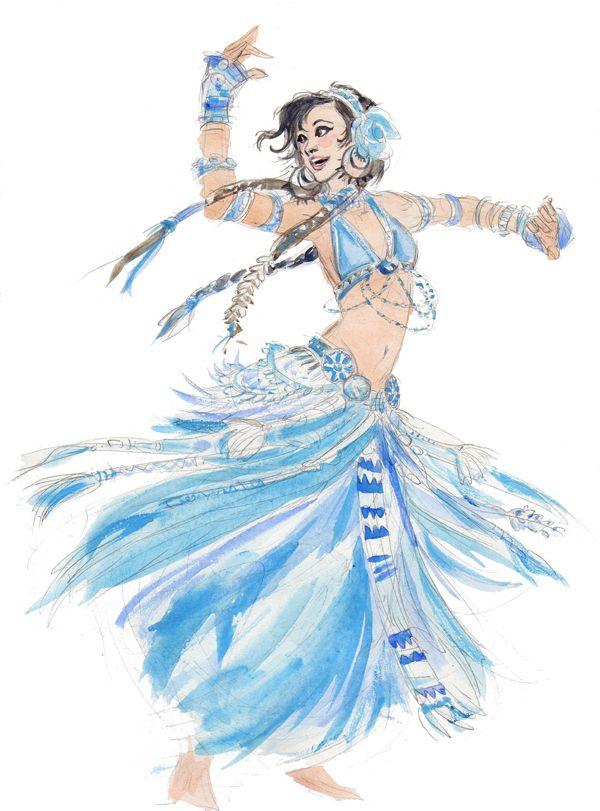 Blue Tribal Belly Dancer Jenjens Journey Dance Costume Design Dancers