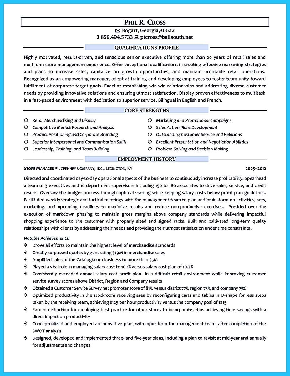 Crafting a Great Assistant Store Manager Resume Manager