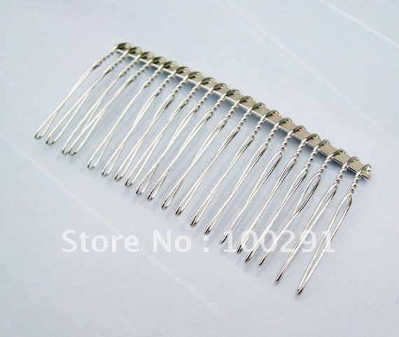 37x75mm silver plated Metal Hair Combs Cips Jewelry Findings Accessories Components $70.40