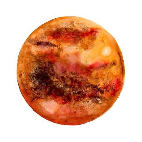 Planet Mercury Painting Project Ideas Acuarela Arte