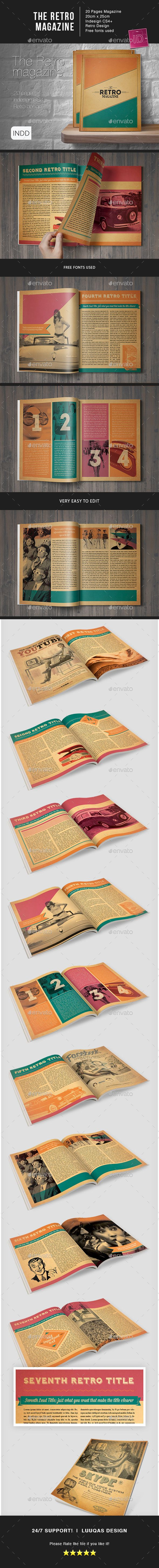 The Retro Magazine Indesign Template