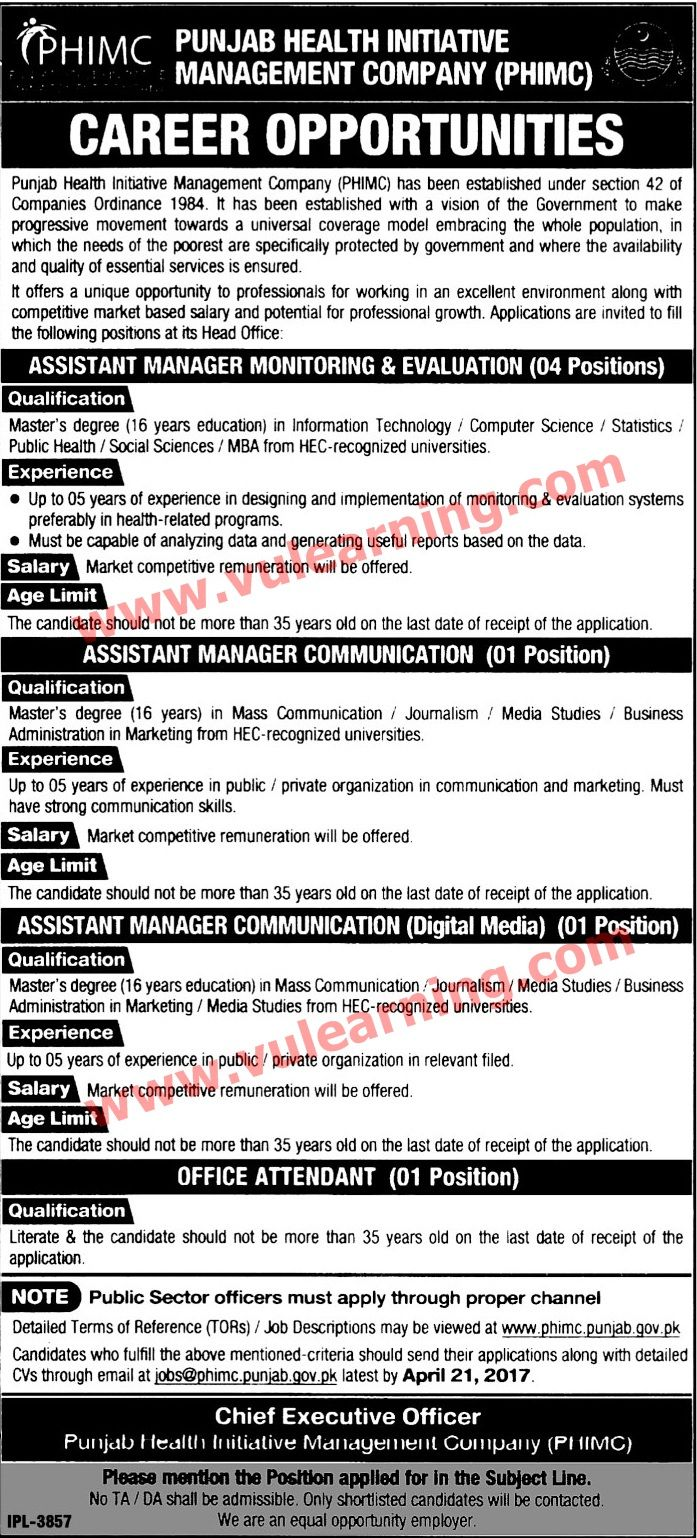 Title Details  Jobs Location Pakistan  Government  Private