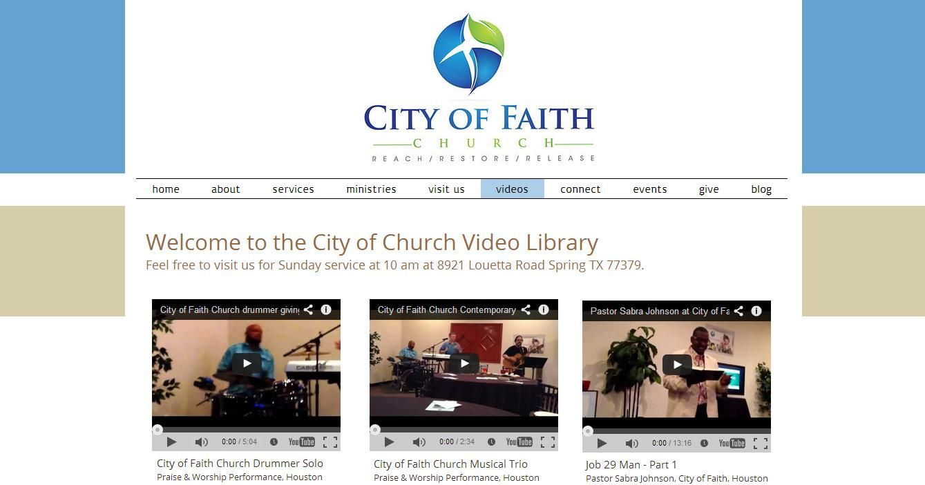 Wix Arena - City of Faith Church Created by Sara Michelle