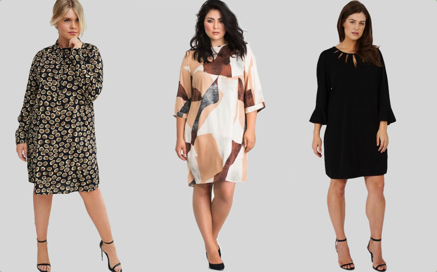 Outfit ideas for the apple body type (Plus Size)