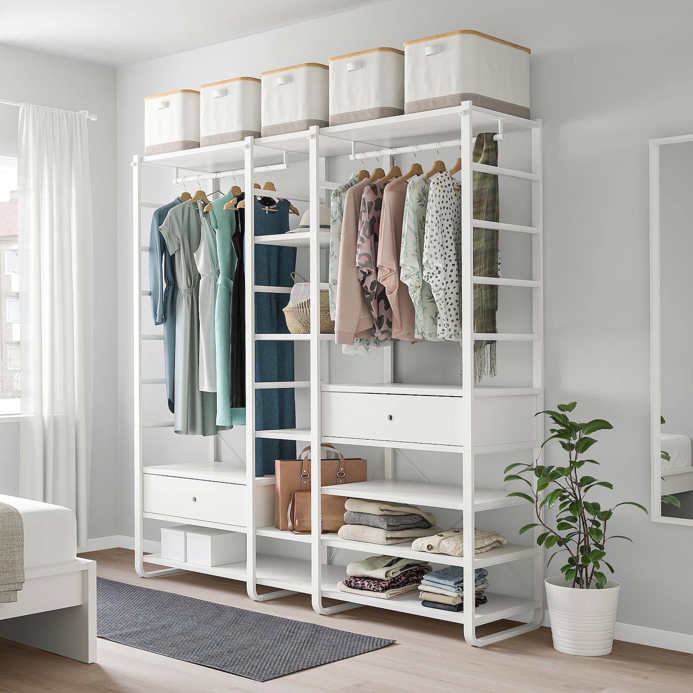 "ELVARLI Wardrobe combination, white, 803/4x215/8x85"" - IKEA"