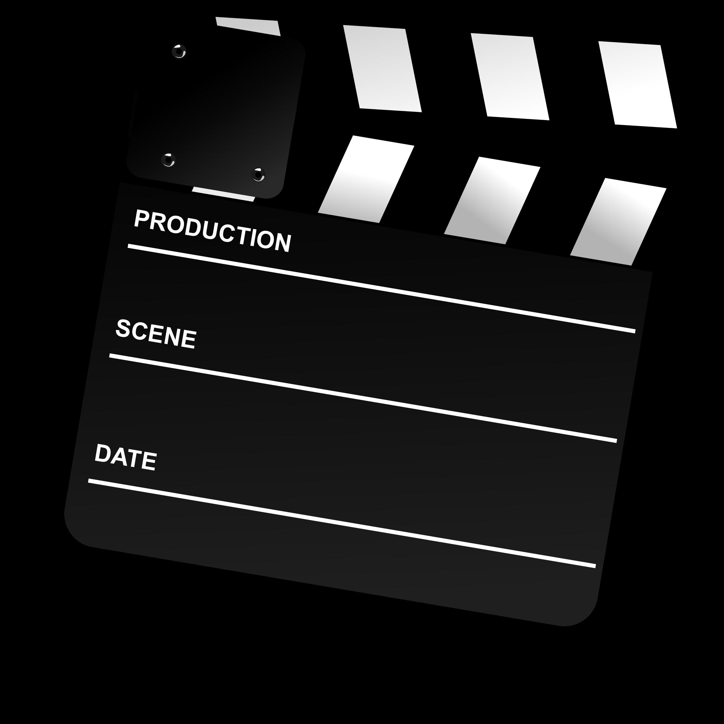 Movie Clapper Board By Gnokii Clip Art Public Domain Images Film