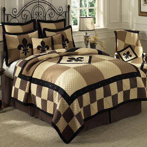 Donna Sharp Fleur De Lis Patchwork Bedding By Donna Sharp Bedding The Home Decorating Company