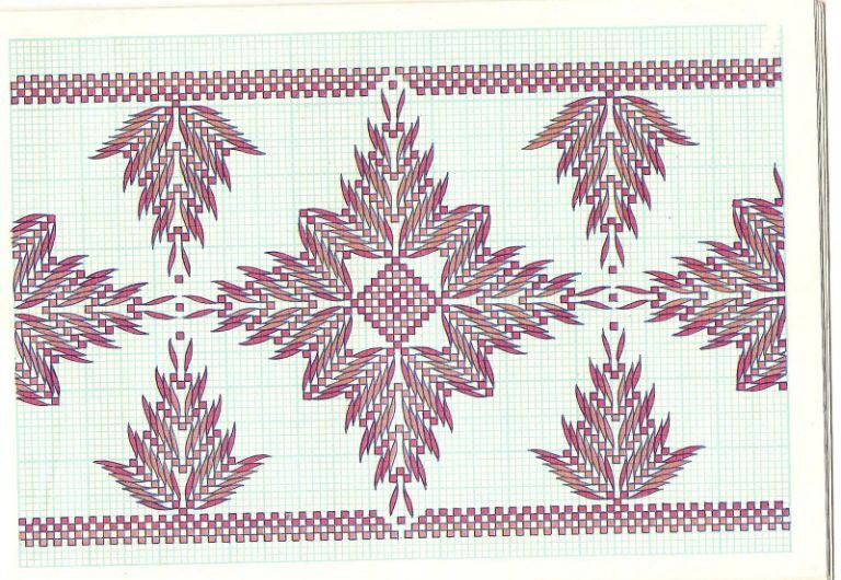 bordado central | Punto Recto | Swedish weaving, Weaving y Swedish ...