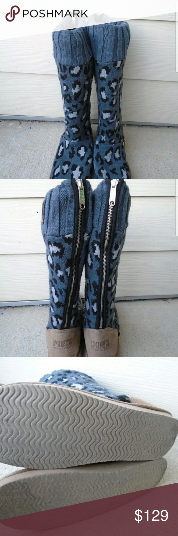 Pink Victorias Secret Mukluk Boot Sweater Boots Rain Boot And Rain