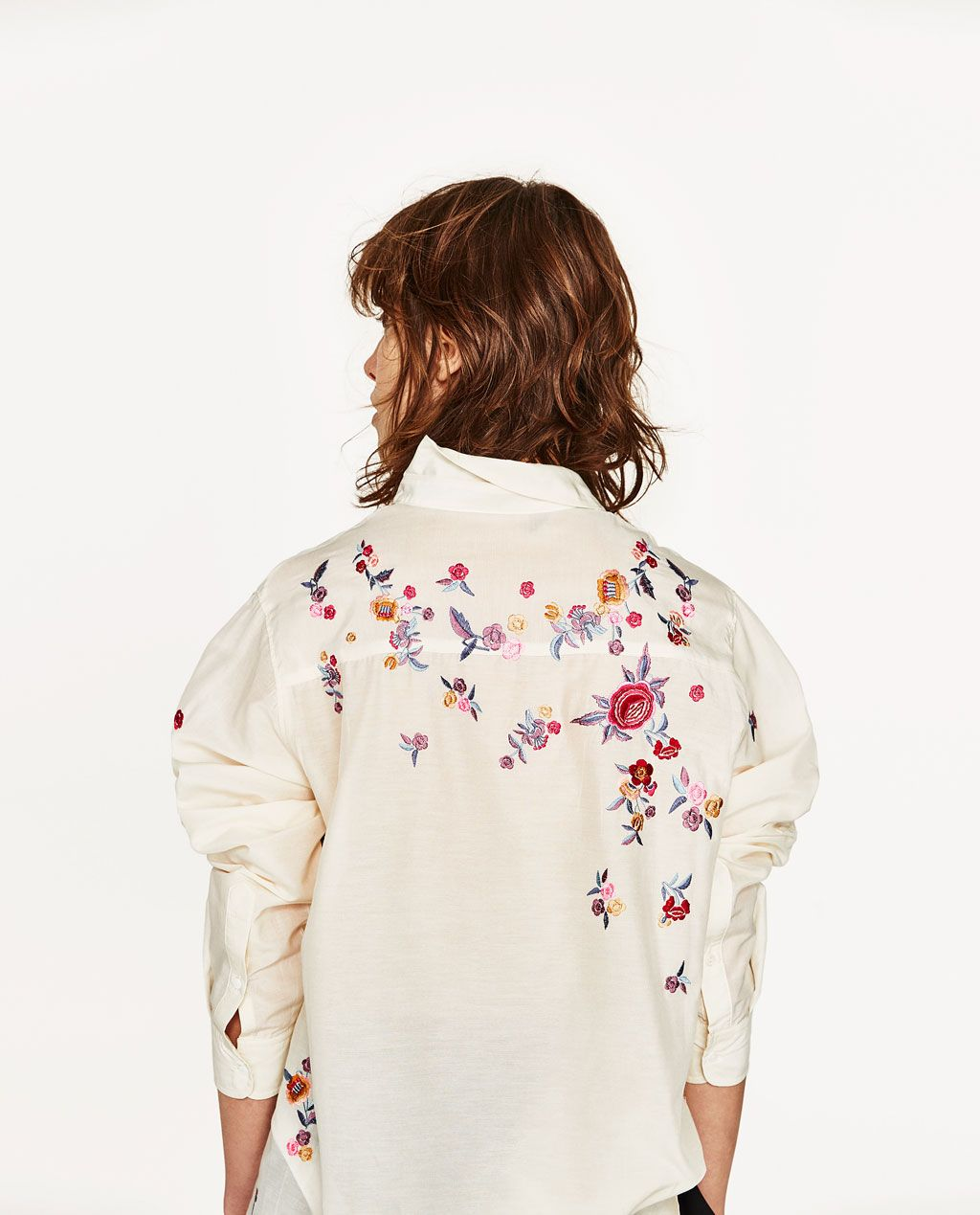 FLORAL EMBROIDERY SHIRT - Available in more colours