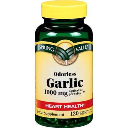 Spring Valley Odorless Garlic Softgels, 1000mg, 120 count