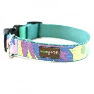 Mimi Green Oilcloth Collar - Willow | PupLife Designer Dog Supplies